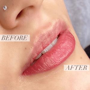 dudak renklendirme örneği